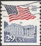 29-cent U.S. postage stamp picturing American flag over the White House