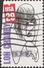 29-cent U.S. postage stamp picturing Lon Chaney