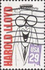 29-cent U.S. postage stamp picturing Harold Lloyd