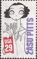 29-cent U.S. postage stamp picturing Zasu Pitts