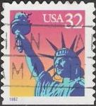32-cent U.S. postage stamp picturing Statue of Liberty