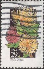 29-cent U.S. postage stamp picturing Ohi'a Lehua