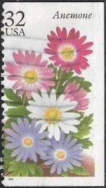 32-cent U.S. postage stamp picturing anemone