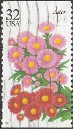 32-cent U.S. postage stamp picturing aster