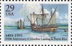 29-cent U.S. postage stamp picturing ships