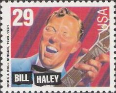 29-cent U.S. postage stamp picturing Bill Haley