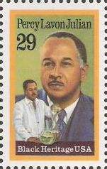 29-cent U.S. postage stamp picturing Percy Lavon Julian