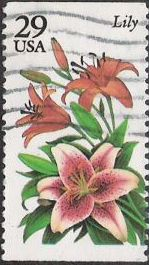 29-cent U.S. postage stamp picturing lily