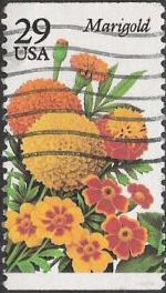 29-cent U.S. postage stamp picturing marigold