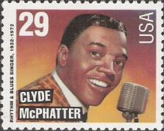 29-cent U.S. postage stamp picturing Clyde McPhatter