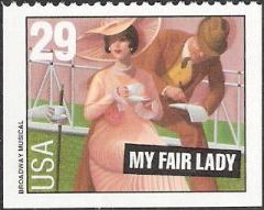 29-cent U.S. postage stamp picturing scene from My Fair Lady