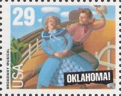 29-cent U.S. postage stamp picturing scene from Oklahoma!