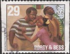 29-cent U.S. postage stamp picturing scene from Porgy & Bess