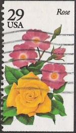 29-cent U.S. postage stamp picturing rose