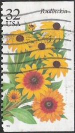 32-cent U.S. postage stamp picturing rudbeckia