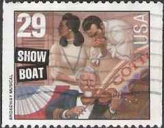 29-cent U.S. postage stamp picturing scene from Show Boat