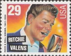 29-cent U.S. postage stamp picturing Ritchie Valens