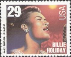 29-cent U.S. postage stamp picturing Billie Holiday