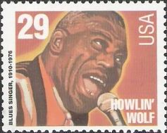 29-cent U.S. postage stamp picturing Howlin' Wolf