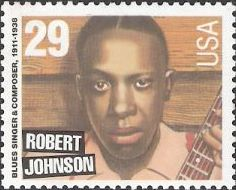 29-cent U.S. postage stamp picturing Robert Johnson