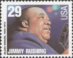 29-cent U.S. postage stamp picturing Jimmy Rushing