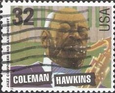 32-cent U.S. postage stamp picturing Coleman Hawkins