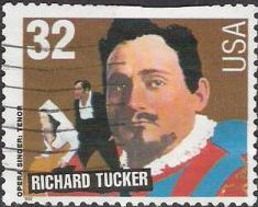 32-cent U.S. postage stamp picturing Richard Tucker