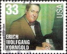 33-cent U.S. postage stamp picturing Erich Wolfgang Korngold