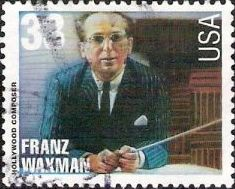33-cent U.S. postage stamp picturing Franz Waxman
