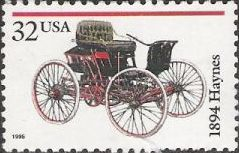 32-cent U.S. postage stamp picturing 1894 Haynes