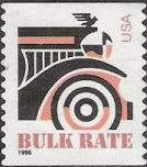 Non-denominated 10-cent U.S. postage stamp picturing front of car