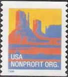 Non-denominated 5-cent U.S. postage stamp picturing butte