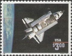 $3 U.S. postage stamp picturing space shuttle Challenger