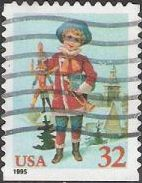 32-cent U.S. postage stamp picturing child with jumping jack