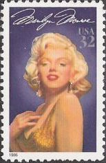 32-cent U.S. postage stamp picturing Marilyn Monroe