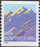 Non-denominated 5-cent U.S. postage stamp picturing mountain