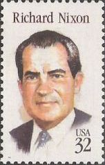 32-cent U.S. postage stamp picturing Richard Nixon