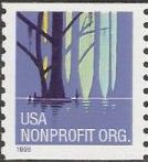 Non-denominated 5-cent U.S. postage stamp picturing swamp