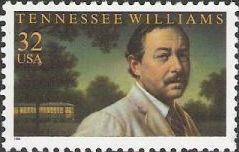 32-cent U.S. postage stamp picturing Tennessee Williams