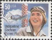 50-cent U.S. postage stamp picturing Jacqueline Cochran