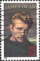 32-cent U.S. postage stamp picturing James Dean