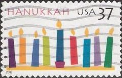 37-cent U.S. postage stamp picturing candles