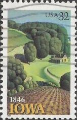 32-cent U.S. postage stamp picturing farm