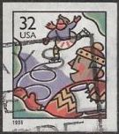 32-cent U.S. postage stamp picturing skaters