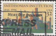 32-cent U.S. postage stamp picturing Smithsonian Institution