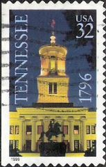 32-cent U.S. postage stamp picturing Tennessee State Capitol