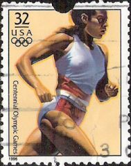 32-cent U.S. postage stamp picturing Olympic runner