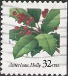 32-cent U.S. postage stamp picturing American holly