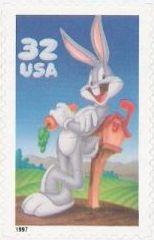 32-cent U.S. postage stamp picturing Bugs Bunny