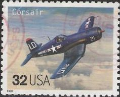 32-cent U.S. postage stamp picturing Corsair airplane